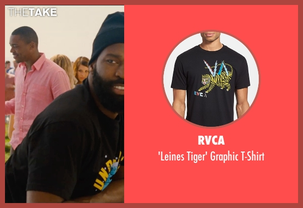 RVCA black t-shirt from Entourage seen with Unknown Actor (Unknown Character)