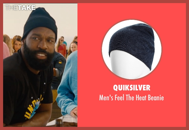 Quiksilver blue beanie from Entourage seen with Unknown Actor (Unknown Character)
