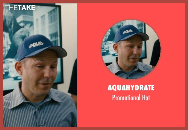 AquaHydrate blue hat from Entourage seen with Unknown Actor (Unknown Character)