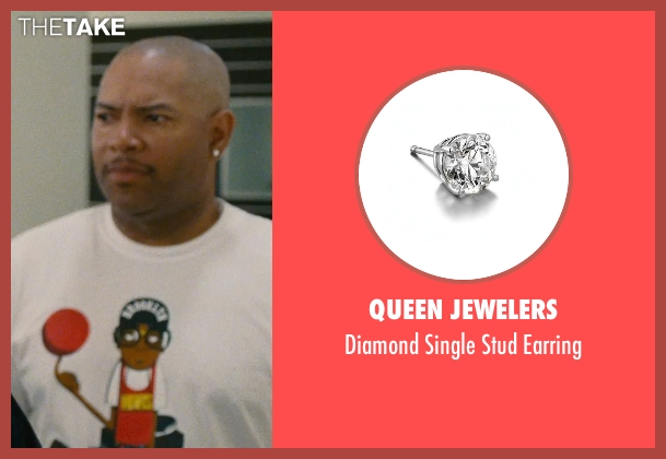Queen Jewelers silver earring from Entourage seen with Unknown Actor (Unknown Character)