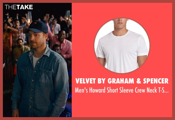 Velvet By Graham & Spencer white t-shirt from Entourage seen with Unknown Actor (Unknown Character)