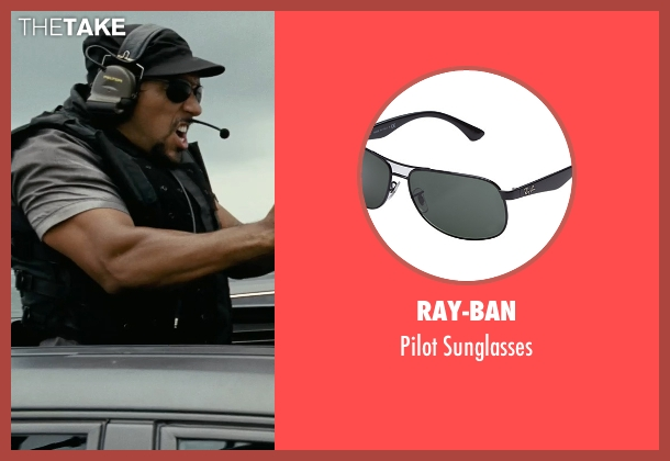 Ray-Ban black sunglasses from Fast Five seen with Unknown Actor (Unknown Character)