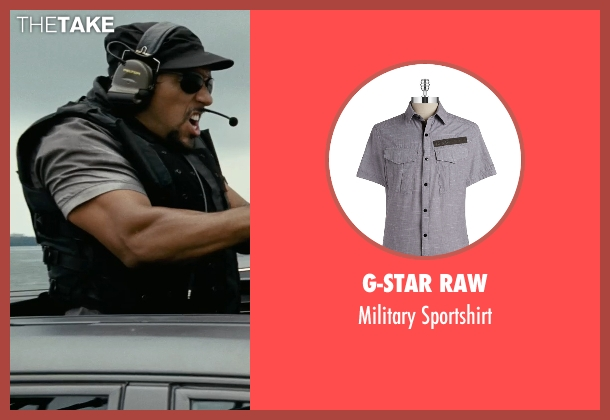 G-Star Raw gray sportshirt from Fast Five seen with Unknown Actor (Unknown Character)