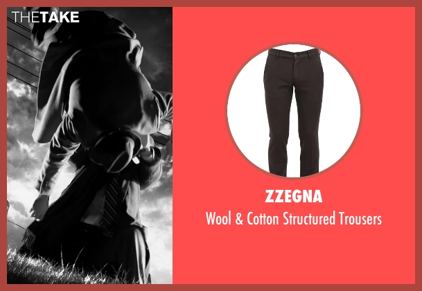 Zzegna brown trousers from Frank Miller's Sin City: A Dame To Kill For seen with Unknown Actor (Unknown Character)