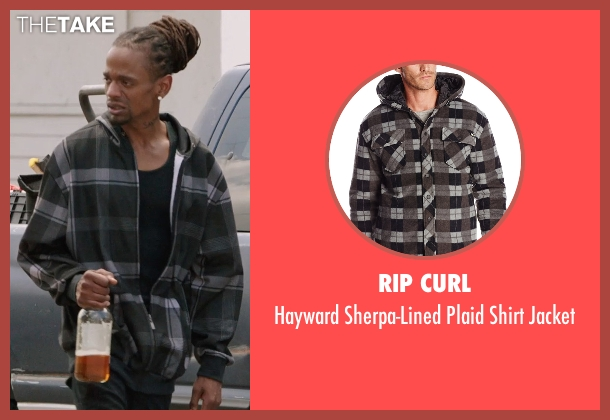 Rip Curl black jacket from Get Hard seen with Unknown Actor (Unknown Character)