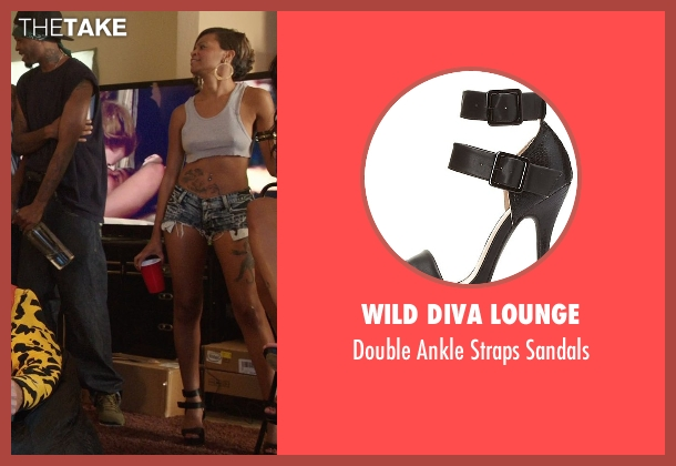 Wild Diva Lounge black sandals from Get Hard seen with Unknown Actor (Unknown Character)