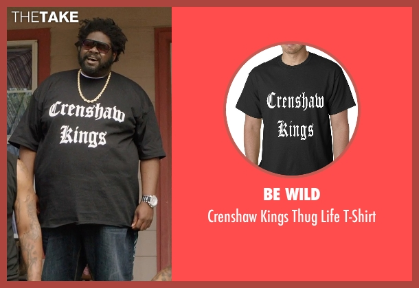 Be Wild black t-shirt from Get Hard seen with Unknown Actor (Unknown Character)