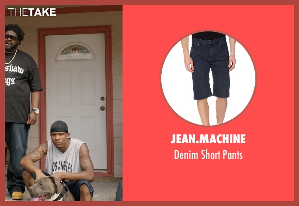 Jean.Machine blue pants from Get Hard seen with Unknown Actor (Unknown Character)