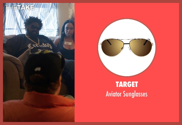 Target brown sunglasses from Get Hard seen with Unknown Actor (Unknown Character)