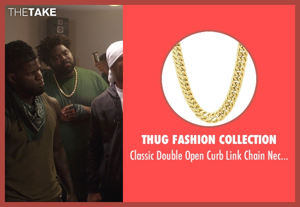 Thug Fashion Collection gold necklace from Get Hard seen with Unknown Actor (Unknown Character)