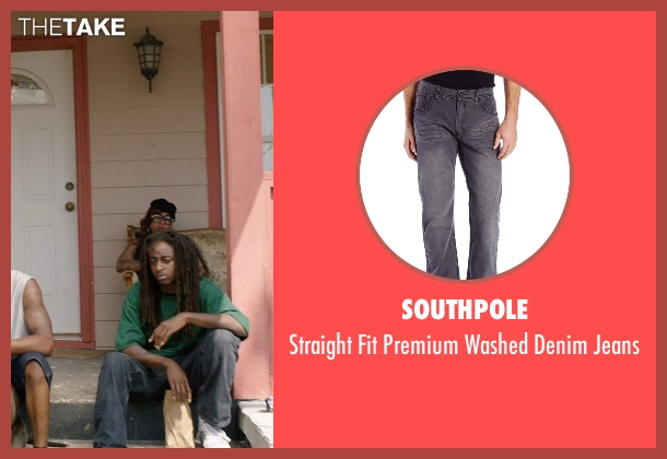 Southpole gray jeans from Get Hard seen with Unknown Actor (Unknown Character)