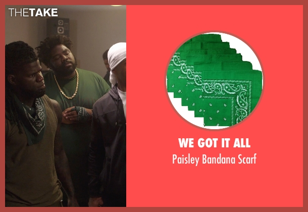We got It All green scarf from Get Hard seen with Unknown Actor (Unknown Character)