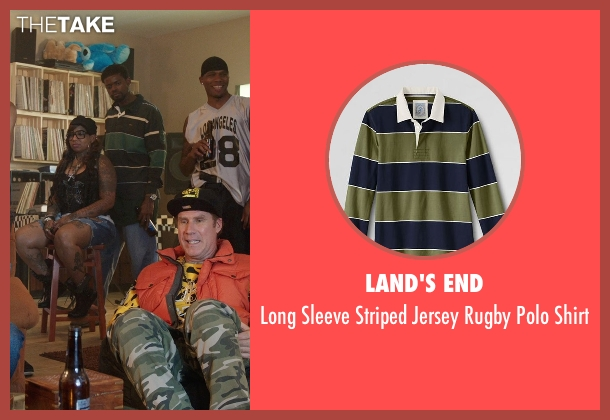 Land's End green shirt from Get Hard seen with Unknown Actor (Unknown Character)