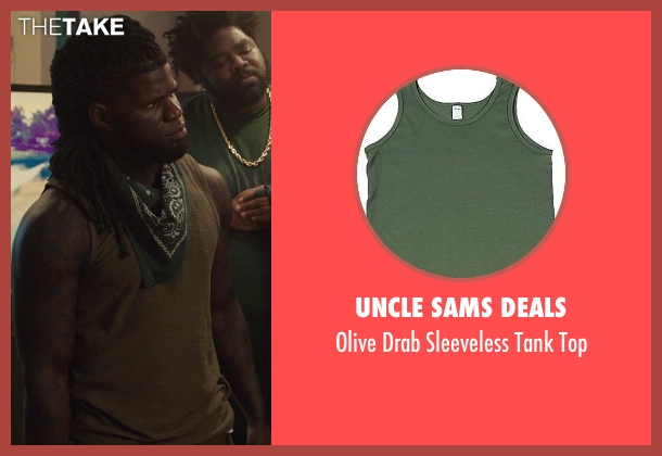 Uncle Sams Deals green top from Get Hard seen with Unknown Actor (Unknown Character)