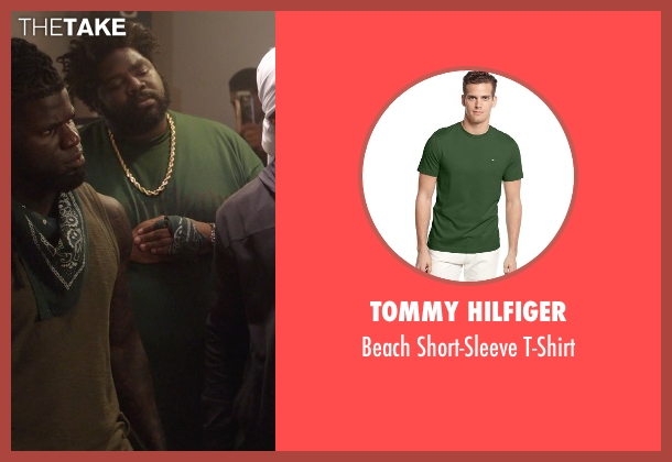 Tommy Hilfiger green t-shirt from Get Hard seen with Unknown Actor (Unknown Character)