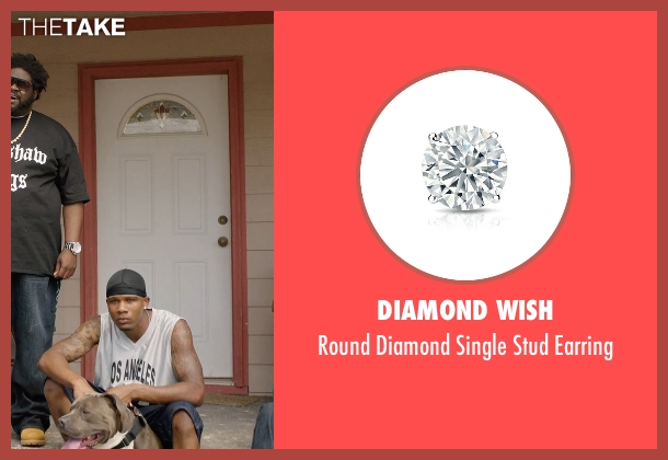 Diamond Wish silver earring from Get Hard seen with Unknown Actor (Unknown Character)