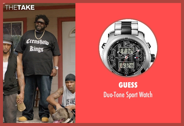 Guess silver watch from Get Hard seen with Unknown Actor (Unknown Character)