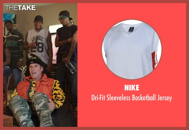 Nike white jersey from Get Hard seen with Unknown Actor (Unknown Character)