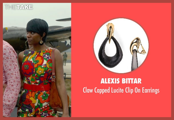 Alexis Bittar black earrings from Get On Up seen with Unknown Actor (Unknown Character)