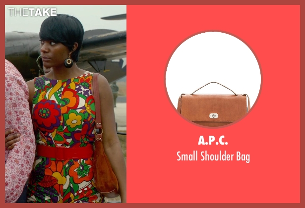 A.P.C. brown bag from Get On Up seen with Unknown Actor (Unknown Character)