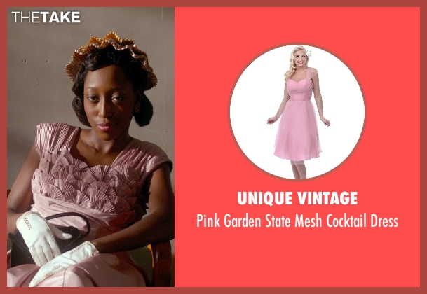 Unique Vintage pink dress from Get On Up seen with Unknown Actor (Unknown Character)