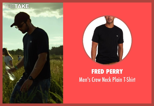 Fred Perry black t-shirt from Gone Girl seen with Unknown Actor (Unknown Character)
