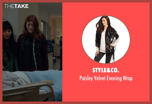 Style&co. black wrap from If I Stay seen with Unknown Actor (Unknown Character)