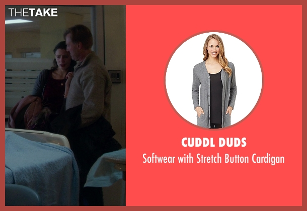 Cuddl Duds gray cardigan from If I Stay seen with Unknown Actor (Unknown Character)
