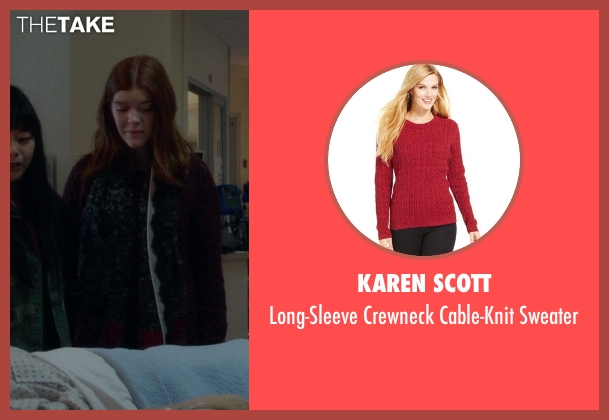 Karen Scott red sweater from If I Stay seen with Unknown Actor (Unknown Character)