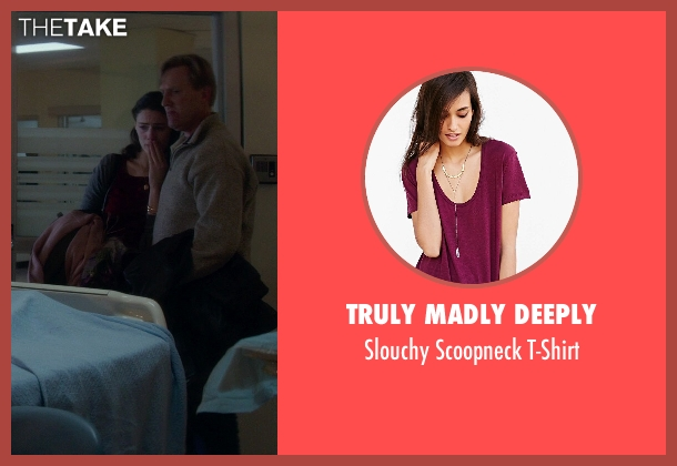 Truly Madly Deeply red t-shirt from If I Stay seen with Unknown Actor (Unknown Character)