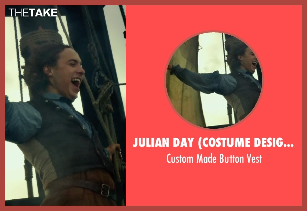 Julian Day (Costume Designer) gray vest from In the Heart of the Sea seen with Unknown Actor (Unknown Character)