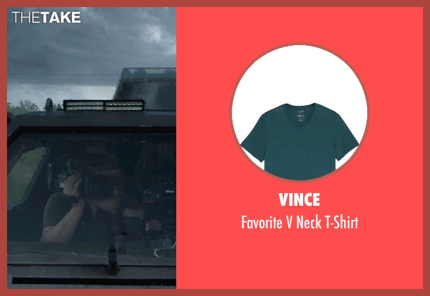 Vince green t-shirt from Into the Storm seen with Unknown Actor (Unknown Character)