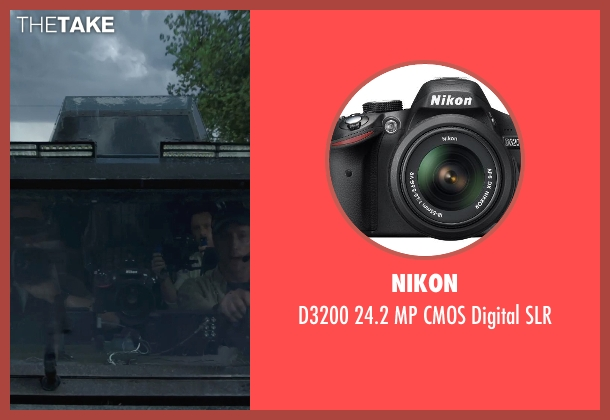 Nikon slr from Into the Storm seen with Unknown Actor (Unknown Character)