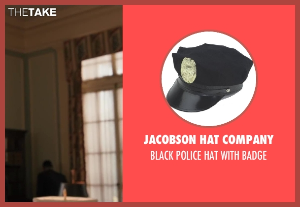 Jacobson Hat Company badge from Iron Man 3 seen with Unknown Actor (Unknown Character)