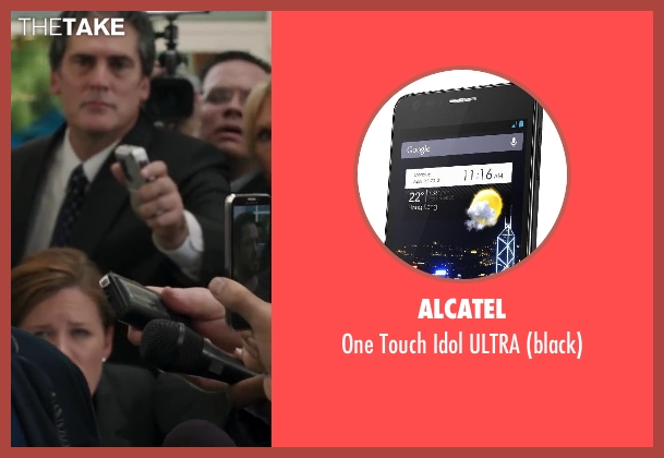 Alcatel black ultra from Iron Man 3 seen with Unknown Actor (Unknown Character)