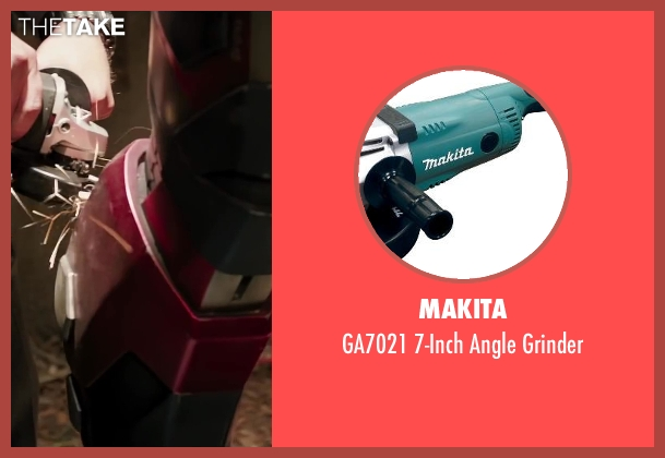 Makita grinder from Iron Man 3 seen with Unknown Actor (Unknown Character)