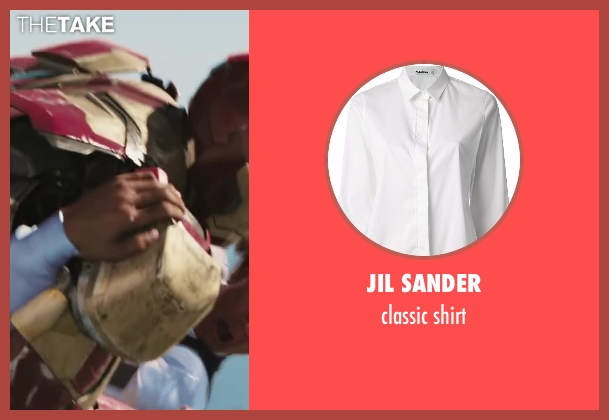 JIL SANDER white shirt from Iron Man 3 seen with Unknown Actor (Unknown Character)