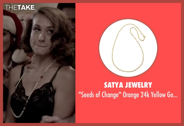 Satya Jewelry white necklace from Jersey Boys seen with Unknown Actor (Unknown Character)