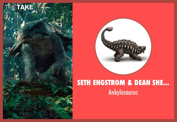 Seth Engstrom & Dean Sherriff (Concept Artist) ankylosaurus from Jurassic World seen with Unknown Actor (Unknown Character)