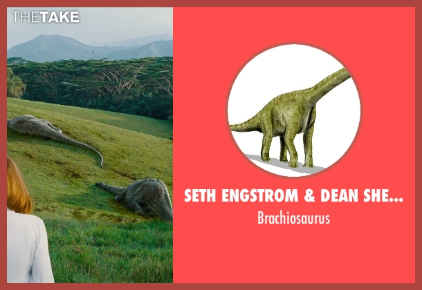 Seth Engstrom & Dean Sherriff (Concept Artist) brachiosaurus from Jurassic World seen with Unknown Actor (Unknown Character)