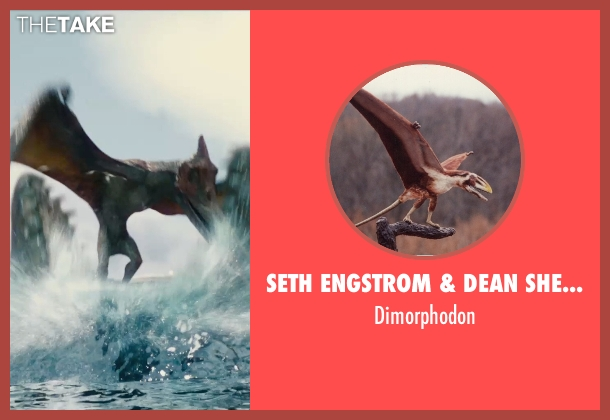 Seth Engstrom & Dean Sherriff (Concept Artist) dimorphodon from Jurassic World seen with Unknown Actor (Unknown Character)