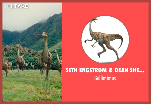 Seth Engstrom & Dean Sherriff (Concept Artist) gallimimus from Jurassic World seen with Unknown Actor (Unknown Character)