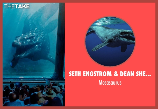 Seth Engstrom & Dean Sherriff (Concept Artist) mosasaurus from Jurassic World seen with Unknown Actor (Unknown Character)