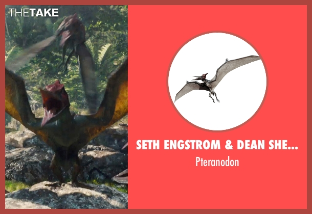 Seth Engstrom & Dean Sherriff (Concept Artist) pteranodon from Jurassic World seen with Unknown Actor (Unknown Character)