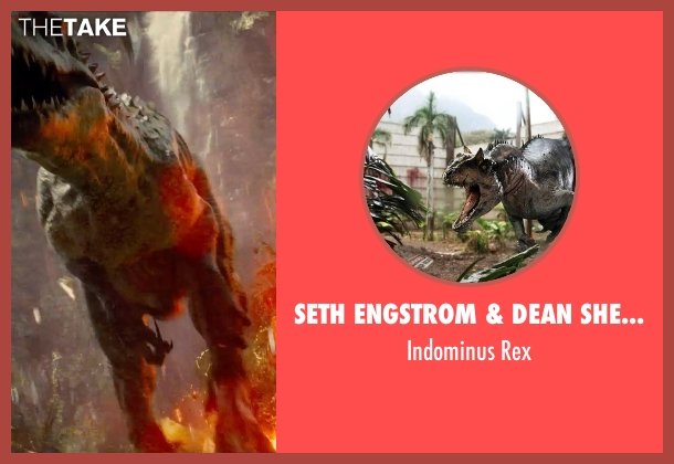 Seth Engstrom & Dean Sherriff (Concept Artist) rex from Jurassic World seen with Unknown Actor (Unknown Character)