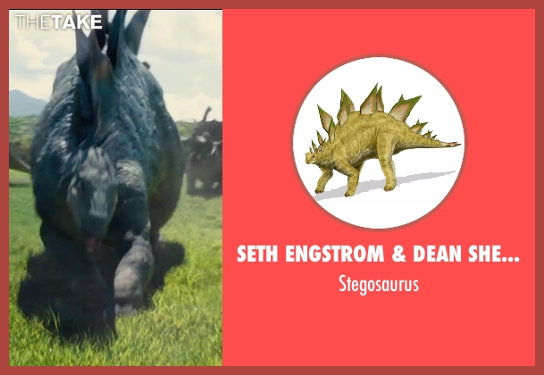Seth Engstrom & Dean Sherriff (Concept Artist) stegosaurus from Jurassic World seen with Unknown Actor (Unknown Character)