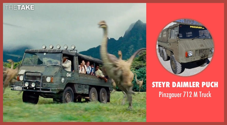 Steyr Daimler Puch truck from Jurassic World seen with Unknown Actor (Unknown Character)