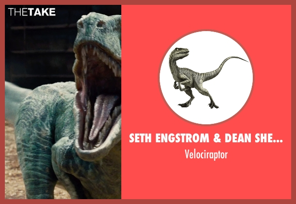 Seth Engstrom & Dean Sherriff (Concept Artist) velociraptor from Jurassic World seen with Unknown Actor (Unknown Character)
