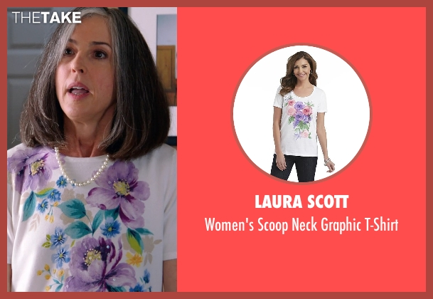 Laura Scott white t-shirt from Laggies seen with Unknown Actor (Unknown Character)