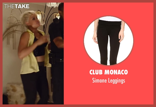 Club Monaco black leggings from Let's Be Cops seen with Unknown Actor (Unknown Character)